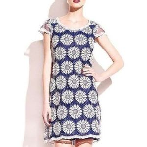 Betsey Johnson Blue & White Daisy Dress